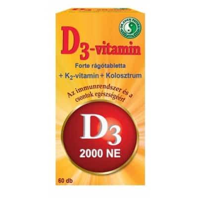 Dr. Chen D3-vitamin forte rágótabletta 60 db