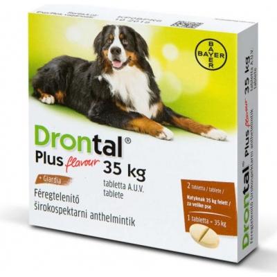 Drontal plus féregtelenítő tabletta 35 kg feletti kutyáknak 2 db