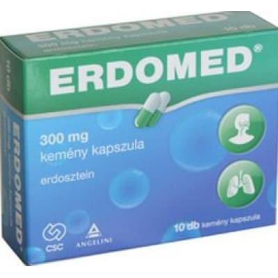 Erdomed köptető, hurutoldó 300 mg kemény kapszula 10 db