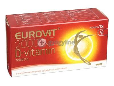Eurovit D-vitamin 50mcg (2000NE) tabletta 60 db