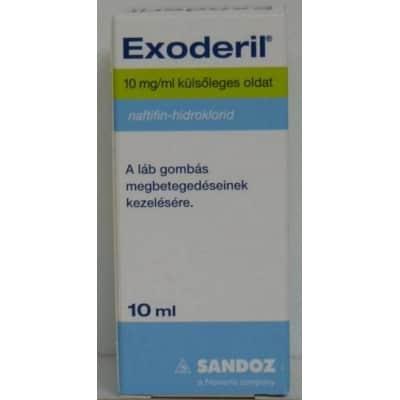 Exoderil 10 mg/ml külsőleges oldat gombás fertőzésre 10 ml