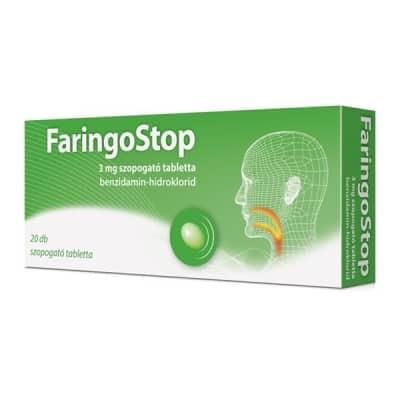 Faringostop 3mg szopogató tabletta 20 db