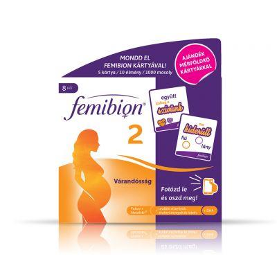 FEMIBION 2 Várandósság étrendkiegészítő kapszula és filmtabletta 56+56 db + 5 db mérföldkőkártya
