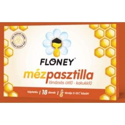 Floney mézpasztilla lándzsás útifű, kakukkfű 18 db