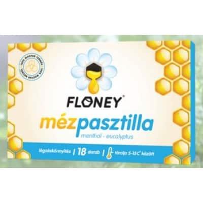 Floney mézpasztilla mentol-eukaliptus 18 db