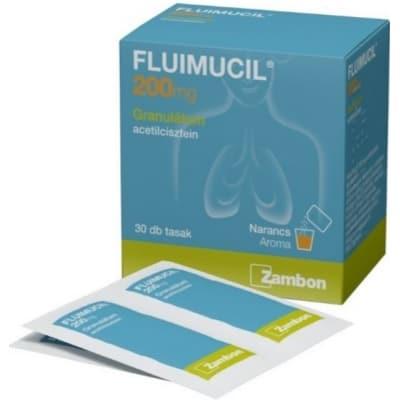 Fluimucil 200 granulátum 30 db