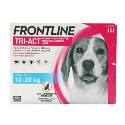 Frontline tri-act rácsepegtető oldat kutyáknak 10-20 kg 3 x 2 ml