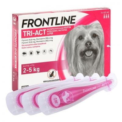 Frontline tri-act rácsepegtető oldat kutyáknak 2-5 kg 3 x 0,5 ml