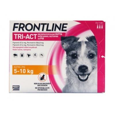 Frontline tri-act rácsepegtető oldat kutyáknak S 5-10 kg 3 x 1 ml