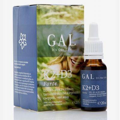 Gal K2 + D3-vitamin forte cseppek 20 ml