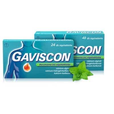 Gaviscon borsmenta ízű rágótabletta, 48 db