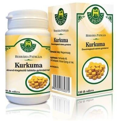 Herbária kurkuma gyömbér tabletta 120 db