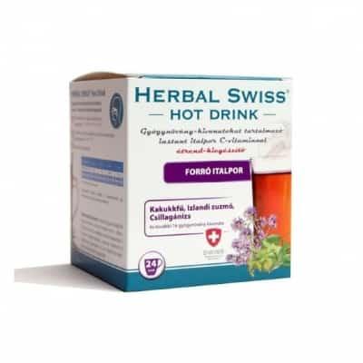 Herbal swiss hot drink forró italpor 24 db