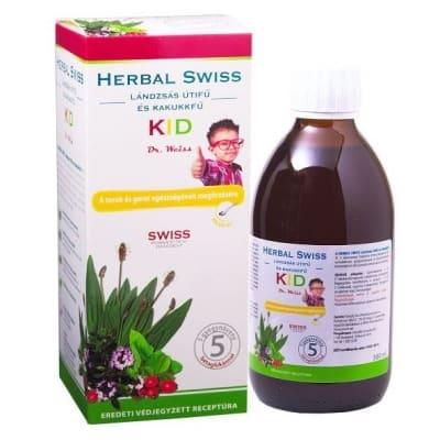Herbal Swiss Kid Lándzsás Útifű Szirup 300 ml