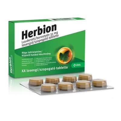 Herbion borostyán 35mg szopogató tabletta 24 db