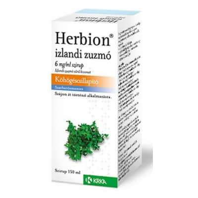 Herbion izlandi zuzmó köhögéscsillapító szirup 150 ml