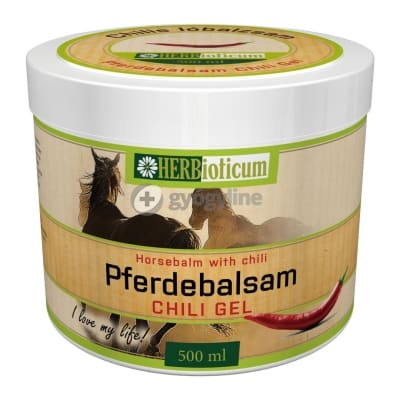 Herbioticum pferdebalzsam, lóbalzsam chilis 500 ml