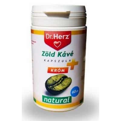 Dr. Herz zöld kávé + króm kapszula 60 db