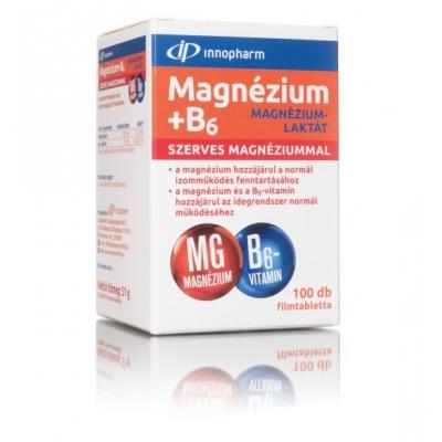 Innopharm Magnézium-laktát + B6 filmtabletta 100 db