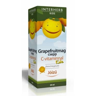 Interherb vital grapefruitmag csepp C-vitaminnal gyermekeknek 20 ml