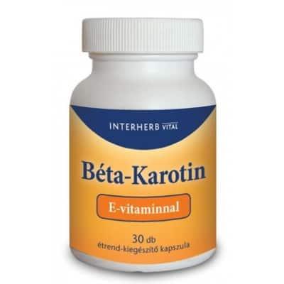 Interherb vital béta karotin + E-vitamin kapszula 30 db