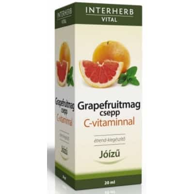 Interherb vital grapefruitmag csepp C-vitaminnal 20 ml