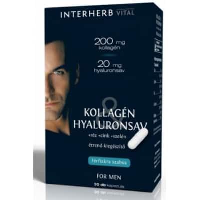 Interherb vital kollagén és hyaluronsav for men kapszula 30 db