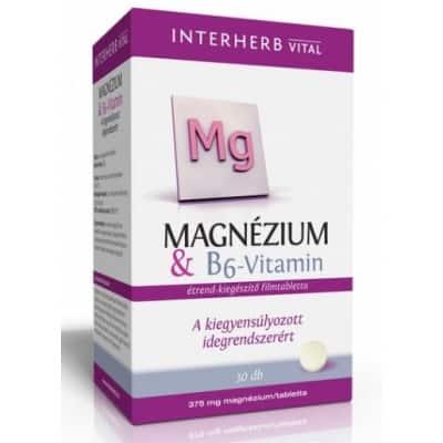 Interherb vital magnézium + B6-vitamin tabletta 30 db