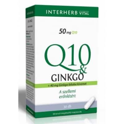 Interherb vital Q10 & ginkgo extraktum kapszula 30 db