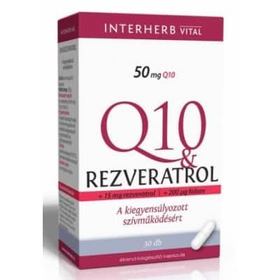 Interherb vital Q10 & rezveratrol kapszula 30 db