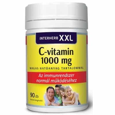 Interherb XXL C-vitamin 1000 mg tabletta 90 db