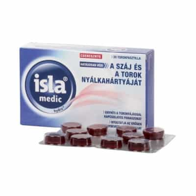 Isla medic hydro+ cseresznye ízű torokpasztilla 20 db