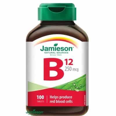Jamieson B 12 vitamin tabletta 250 µg 100 db