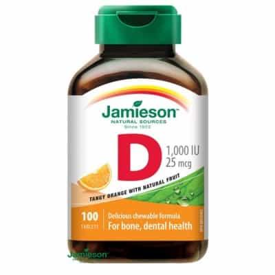 Jamieson D3-vitamin 1000 IU szopogató tabletta narancs ízű 100 db