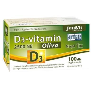 Jutavit D3-vitamin 3000NE Olíva lágykapszula 100 db
