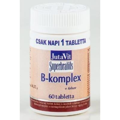 Jutavit B-komplex folsavval tabletta 60 db