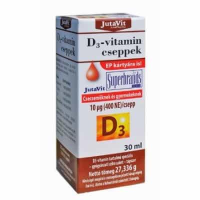 Jutavit D3-vitamin 400 NE 10 μg cseppek 30 ml