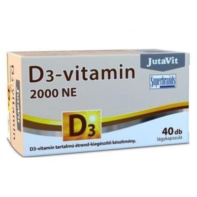 Jutavit D3-vitamin 2000 NE lágykapszula 40 db