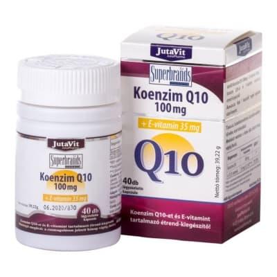Jutavit Koenzim Q10 100mg + E-vitamin 35mg lágyzselatin kapszula 40 db