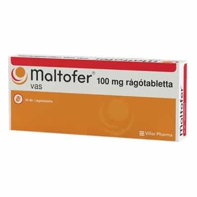 Maltofer 100 mg vas rágótabletta 30 db