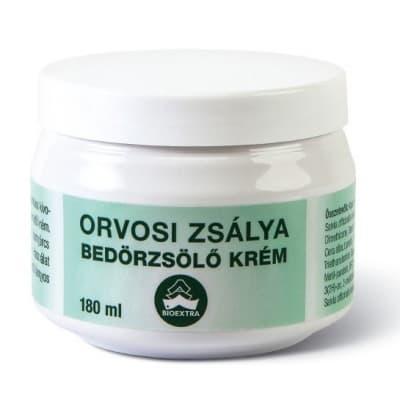 Bioextra orvosi zsályás bedörzsölő masszázskrém 180 ml