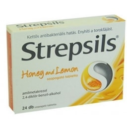 Strepsils honey and lemon szopogató tabletta 24 db