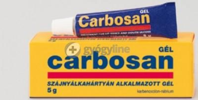 Carbosan szájnyálkahártyán alkalmazott gél 5 g