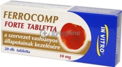 Ferrocomp 10 mg forte tabletta 20 db