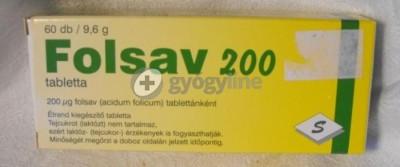 Folsav 200 tabletta 60 db