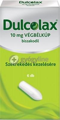 Dulcolax 10 mg végbélkúp 6 db