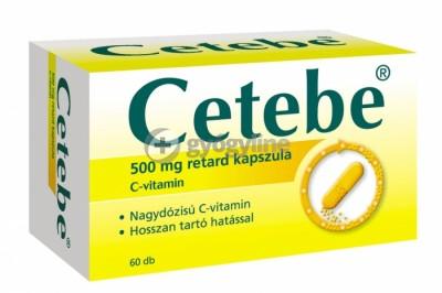 Cetebe 500 mg C-vitamin retard kemény kapszula 60 db