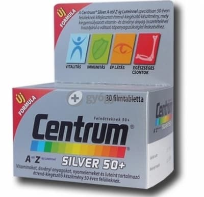 Centrum silver 50+ A-Z-ig filmtabletta 100 db