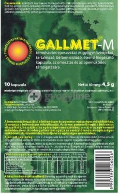 Gallmet-M kapszula gyógynövényekkel - 30 db