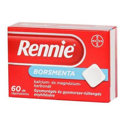 Rennie borsmenta rágótabletta gyomorégésre 60 db